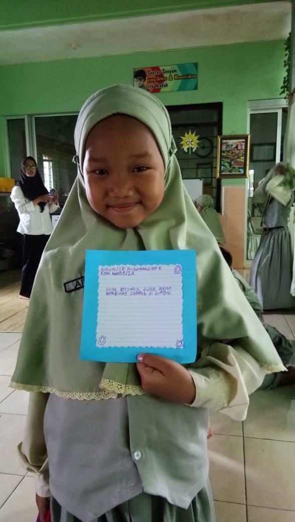 Dzul Qarnain, SD Muhammadiyah 4-Membuat Janji