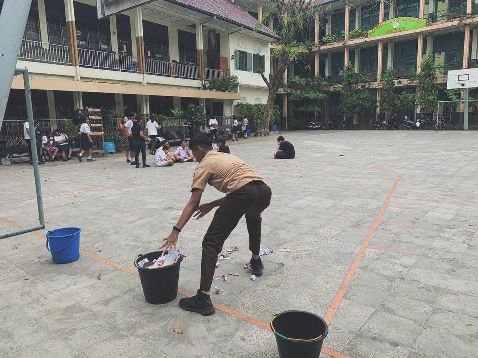 Herianto Tamba_Zero Waste School_Pemilahan Sampah